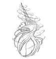 gaphic unicorn girl vector image vector image