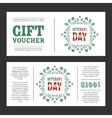 Gift voucher Veterans Day vector image