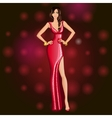 Glamorous dancing party girl vector image