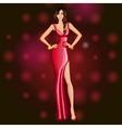 Glamorous dancing party girl vector image