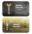 gold trophy for victory business vector image vector image
