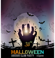 Hallowen grunge square vector image