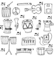 Hand draw stock music doodles vector image