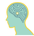 labyrinth brain in human head vector image