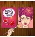 Makeup and nail polish vector image