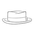 mans hat logo contour vector image