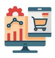 marketing analytic flat vector image vector image