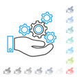 mechanics service contour icon vector image
