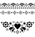 mexican floral and abstract design elements vector image vector image