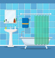 modern bathroom interior with furniture vector image vector image
