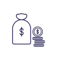 money capital icon outline style money vector image
