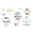 Mothers Day Lettering design vector image vector image