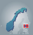 norway information map vector image vector image
