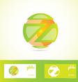 Orange green sphere globe logo vector image vector image