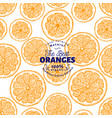orange seamless pattern hand drawn fruit vector image