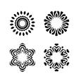 Oriental pattern set vector image vector image