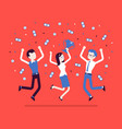 people celebrating victory vector image vector image