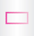 Rectangle decorative magenta frame vector image