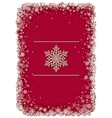 Red Christmas frame with snowflakes vector image vector image