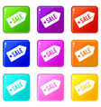 sale icons 9 set vector image vector image