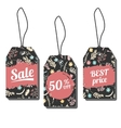 Sale tags with freehand ink vector image vector image