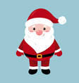 santa claus character merry christmas and happy vector image