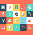 science and technology flat icons set vector image vector image