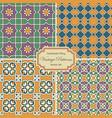 seamlessly tiling vintage patterns vector image vector image