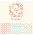 set outline emblems and patterns vector image