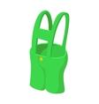 Short green pants cartoon icon vector image vector image