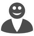 smiled user flat icon vector image vector image