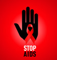 STOP AIDS Symb 04 vector image vector image