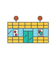 supermarket line icon concept supermarket flat vector image