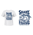 t-shirt print with hammer head shark mascot vector image vector image