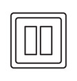 thin line switch icon vector image vector image