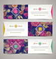 Three elegant banners with floral background vector image