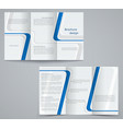three fold business brochure template corporate vector image vector image