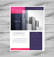 trendy magazine layout brochure flyer design a4 vector image vector image