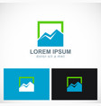 triangle mountain icon logo vector image vector image