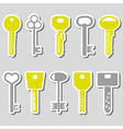 various color keys stickers for open a lock eps10 vector image vector image