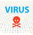 virus system for hacking digital data vector image