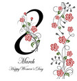 womens day greeting card vector image vector image