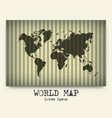 world map on cardboard vector image