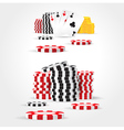 casino chips money cards game set vector image