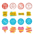 Set of special offer sale tags Discount retail vector image