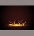 2019 shiny glowing new year celebration background vector image vector image
