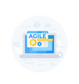 agile development programming and it vector image