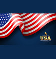 american flag waving independence day design vector image