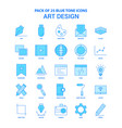 art design blue tone icon pack - 25 icon sets vector image vector image