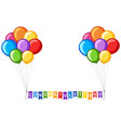 background design with balloons and word vector image vector image